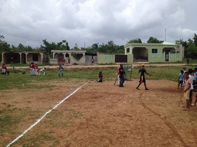 They play on this field everyday in the Dominican!