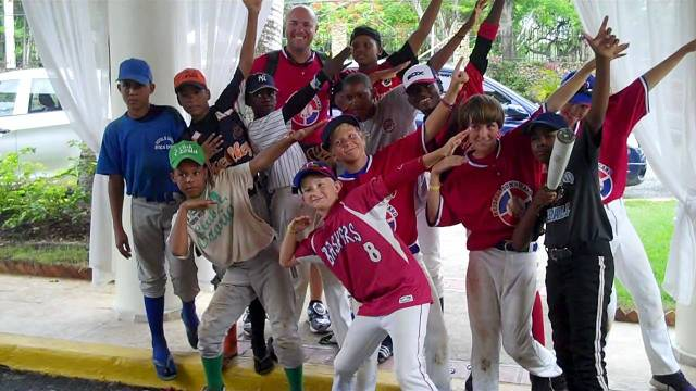 Coach LC with his team in Boca Chica, Dominican Republic