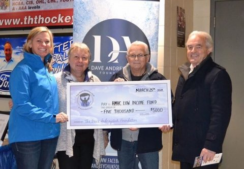 Dave Andreychuk Foundation cheque presentation 2017