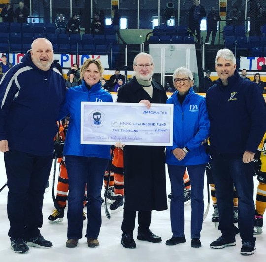 Dave Andreychuk Foundation cheque presentation 2018