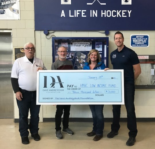 Dave Andreychuk Foundation cheque presentation 2019
