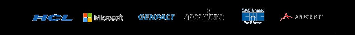 Myamcat Clients - HCL | Microsoft | Genpact | Accenture | CMC Limited | Aricent