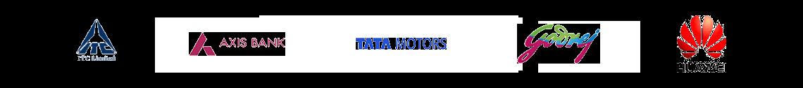 Myamcat Clients - ITC Limited   Axis Bank   TATA Motors   Bank of America   Godrej  Huawei