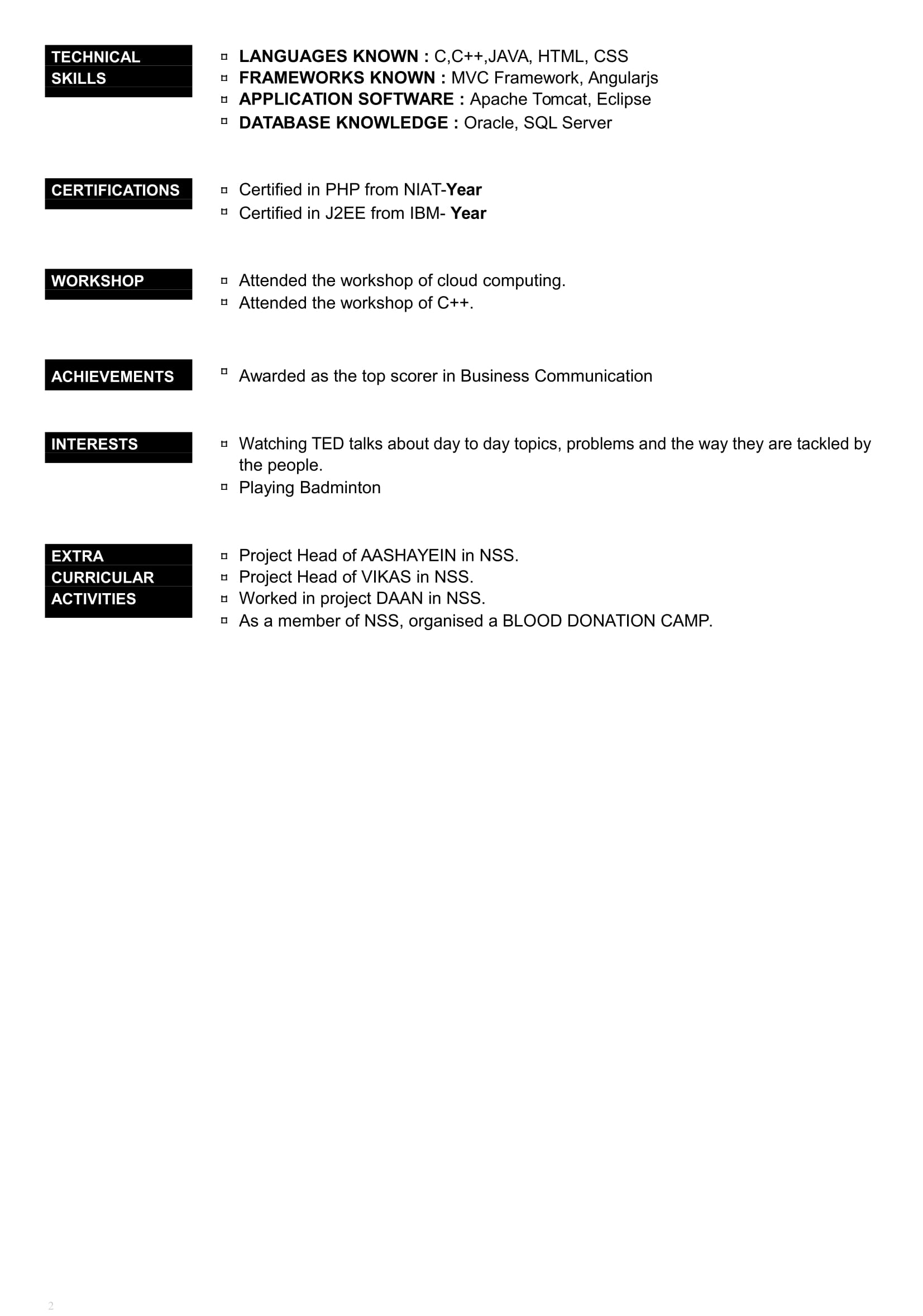 Resume Formats For 2020 32 Free Resume Templates For