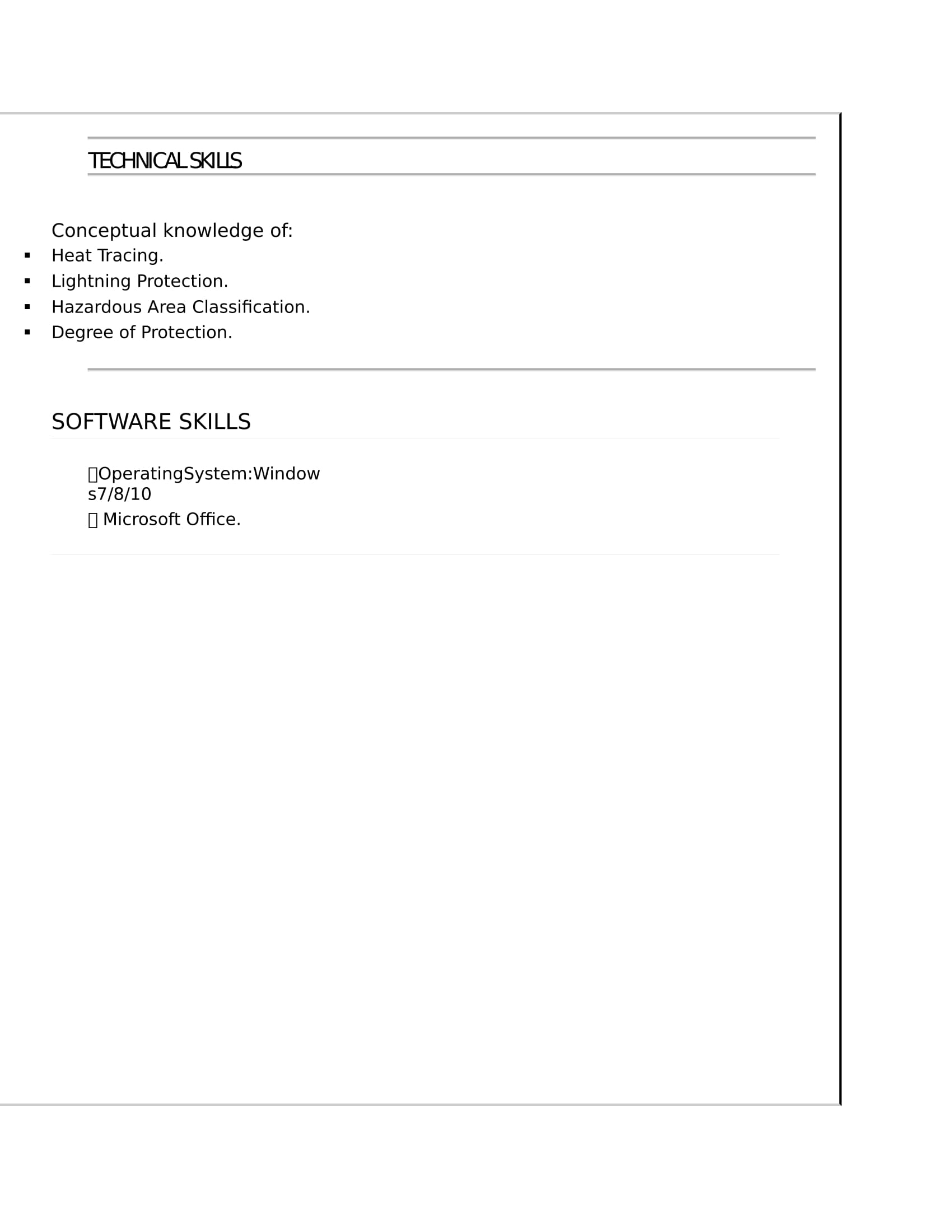 Resume Templates For Electrical Engineer Freshers ...
