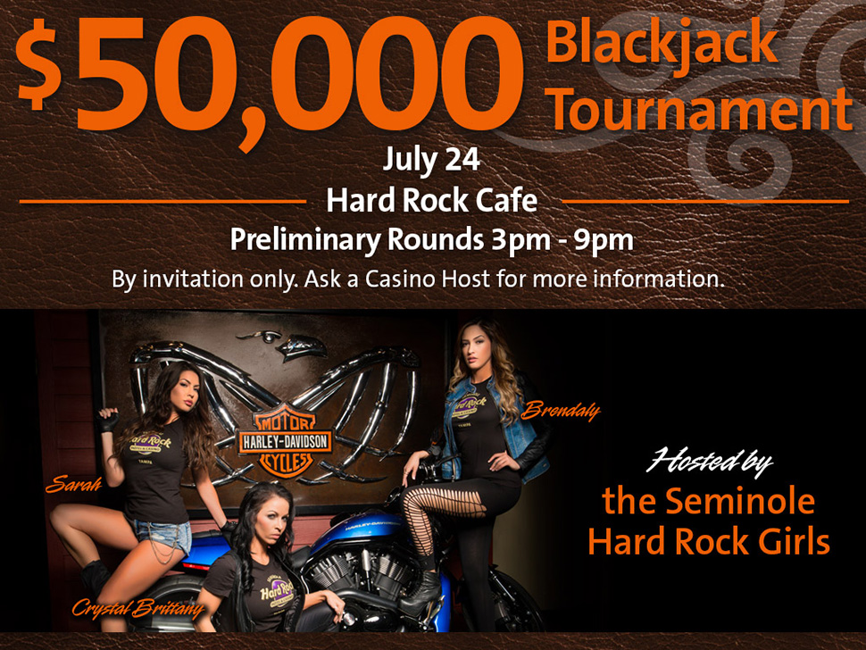 A Look Into the $50,000 Invitational Black Jack Tournament at Seminole Hard Rock Hotel & Casino