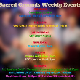 Open Mic Monday's at Sacred Grounds