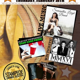Check Out Stampede Series South & Catch The Samantha Leigh Band This Thursday at Ferg's Live Tampa