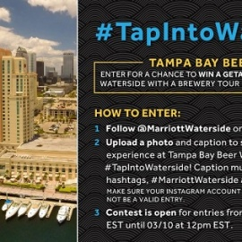 WIN BIG at Tampa Bay Beer Week with Waterside and Cigar City Brewing