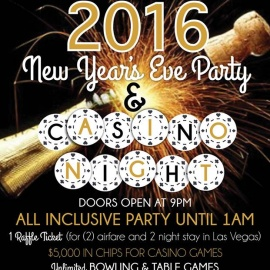 2016 NYE All Inclusive Casino Night!