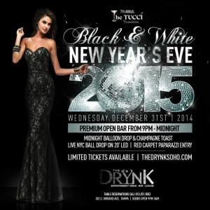 Tucci Foundation to Host 7th Annual Black & White NYE Party at The Drynk