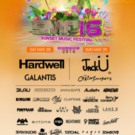 Sunset Music Festival 2016 Lineup Announcement