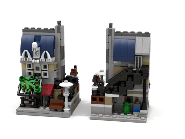 Rendering of Mini Modular Parisian Restaurant