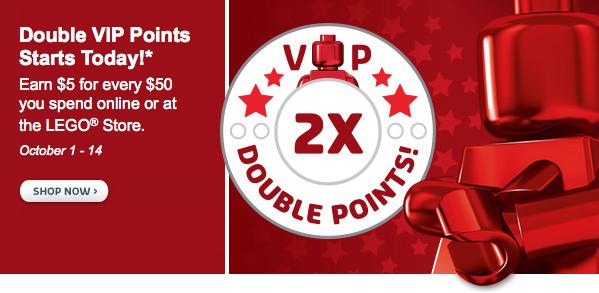 LEGO VIP 2x points October 1-14