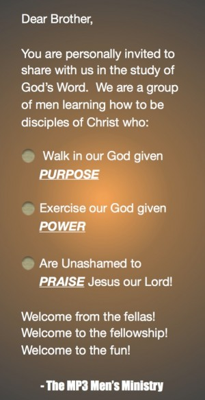 THE GROWING VALLEY BAPTIST CHURCH - Ministries - MP3 Men's