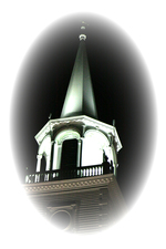 The Lighted Church Steeple