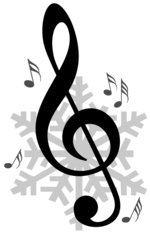 G clef with snowflake