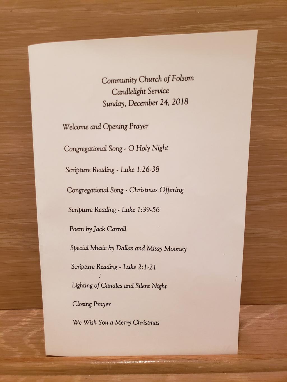 Community Church of Folsom - Photos - Christmas Eve 2018