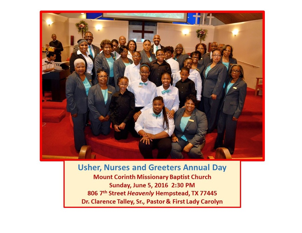 Mount Corinth Missionary Baptist Church Photos Ushers Greeters