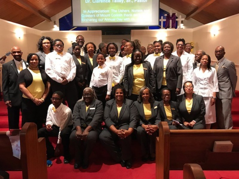 Mount Corinth Missionary Baptist Church Ministries Ushers