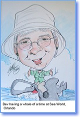 Bev and Orca Cartoon