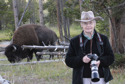 Bev with Bison Buddy