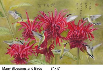 Many Blossoms and Birds c