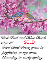 Red Bud and Blue Birds 70 dpi