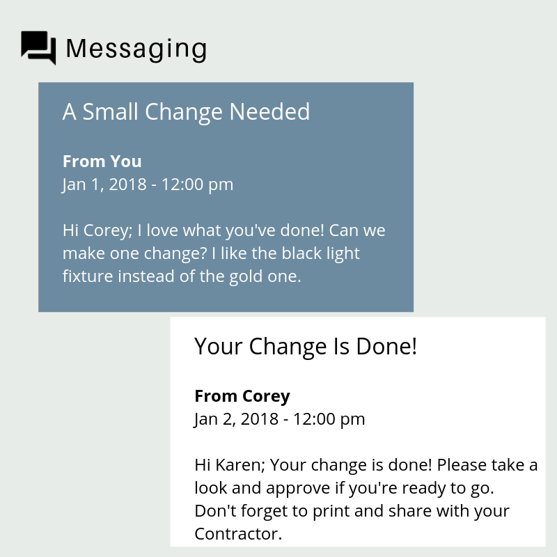 Messaging with your designer