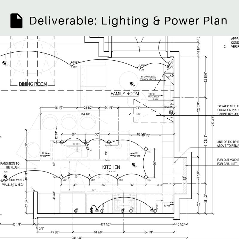 Lighting & Power Plan