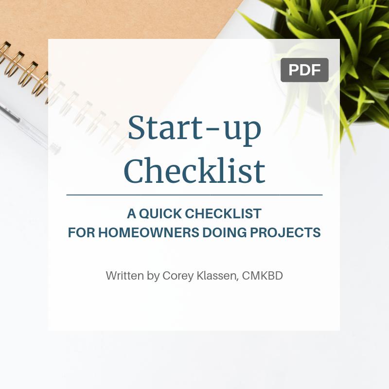 Start Up Checklist