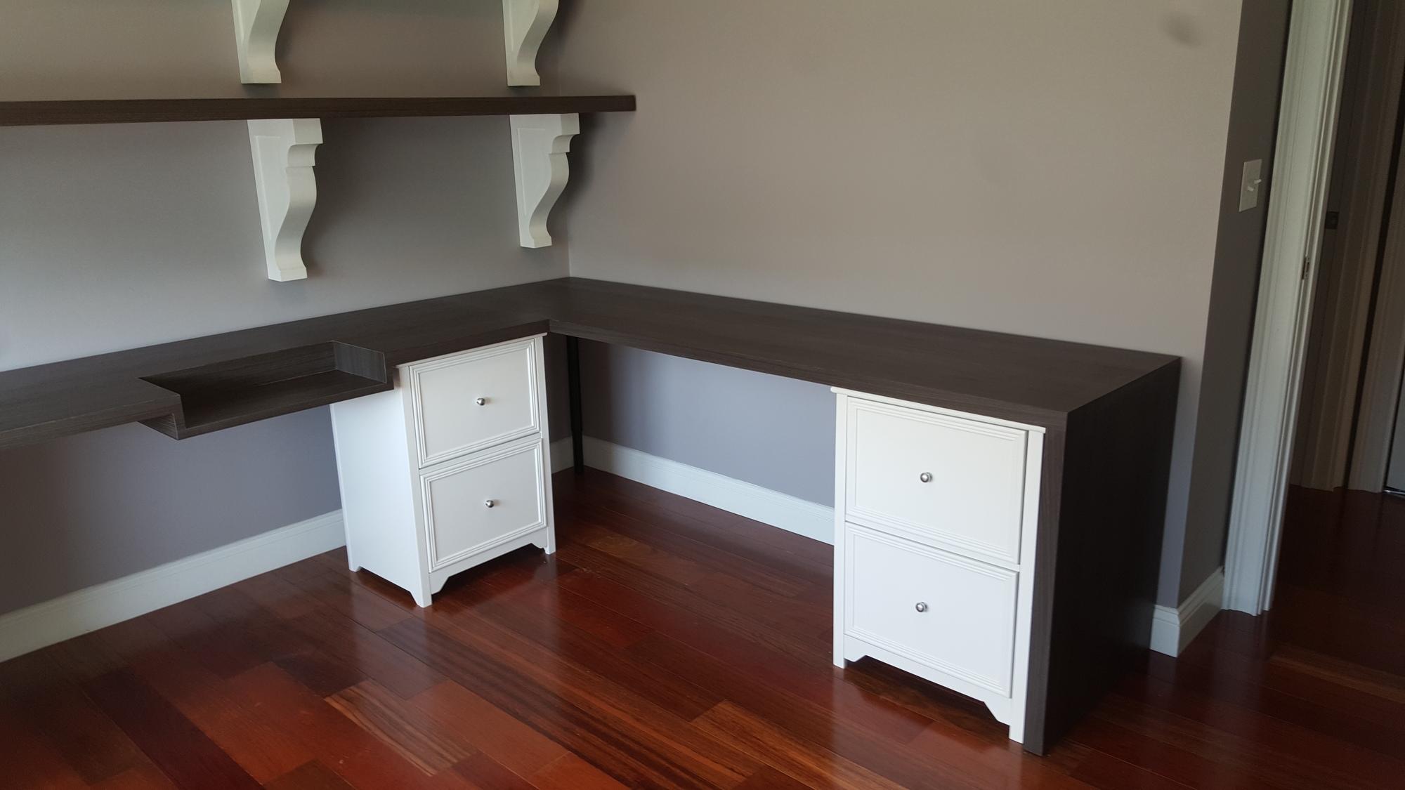 Installed desk