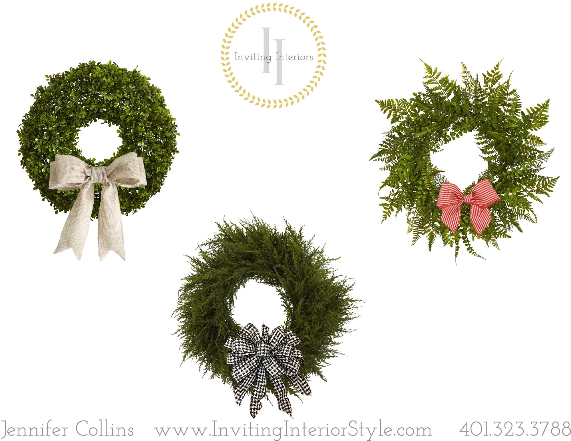 Use the same wreath and change the bow for the season