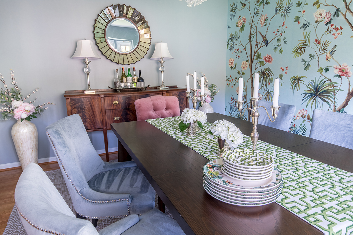 Botanical dining room designed by Lotus + Lilac
