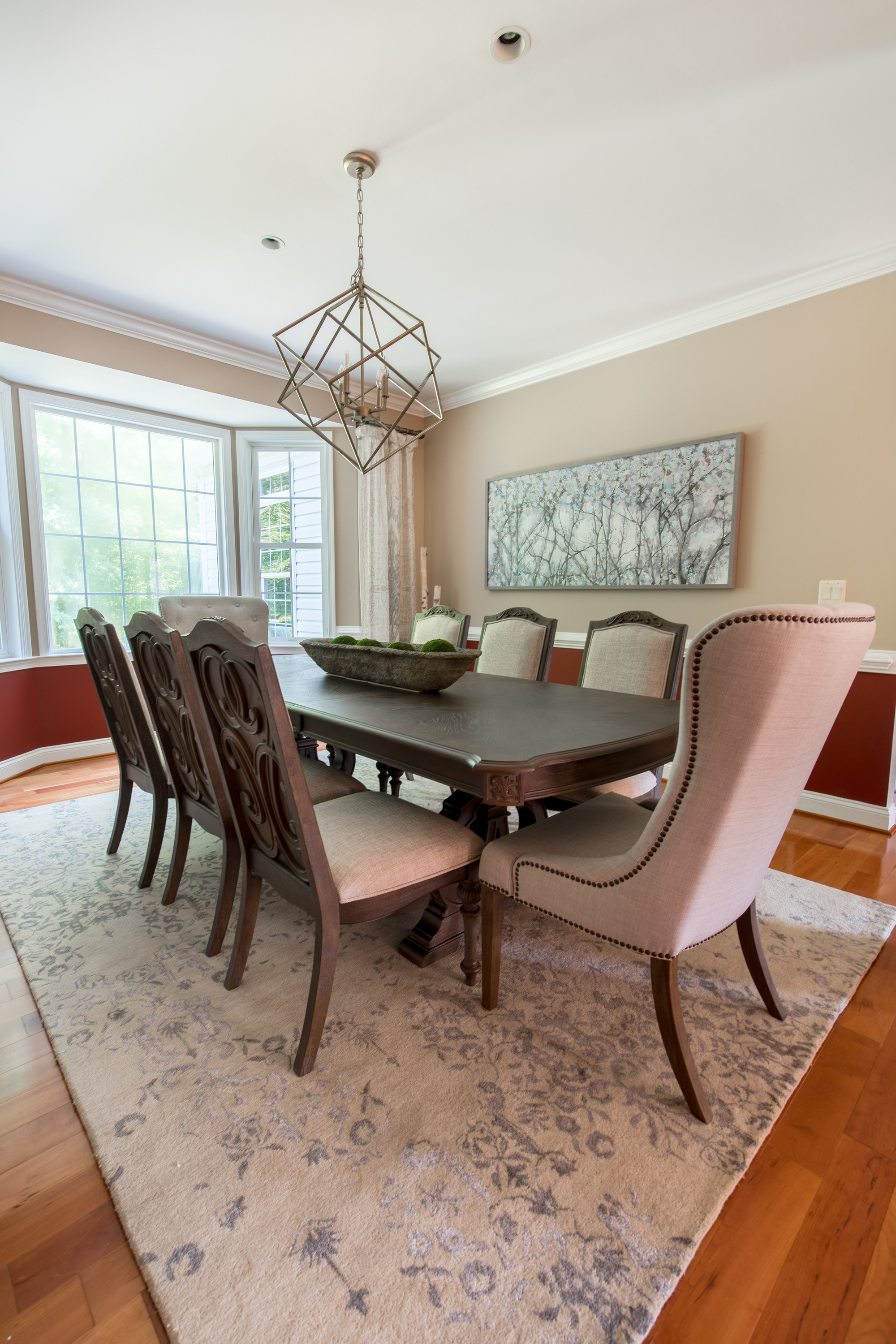 New Traditional dining room designed by Lotus + Lilac