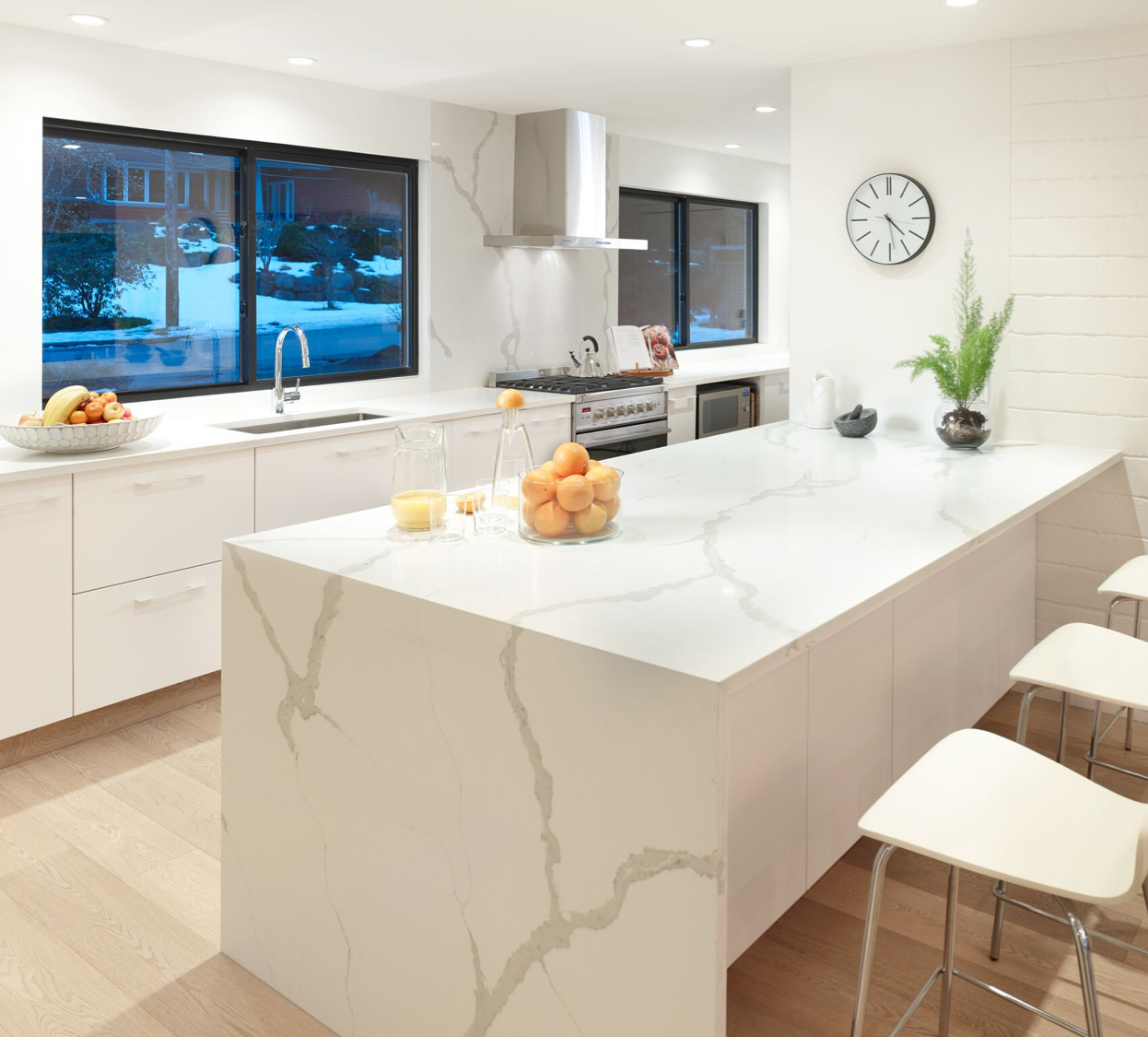 Open Concept Contemporary Kitchen