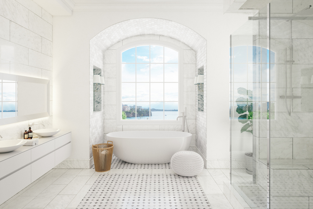 white-Master- contemporary-cabinets- floating-sinks-contemporary- freestanding-tub.jpg