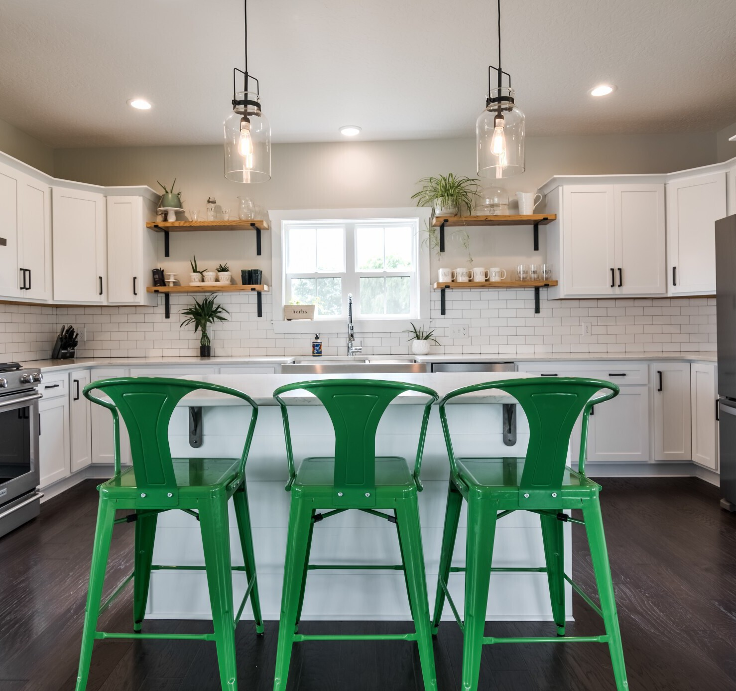 white-farmhouse-with-white-subway-green-stools-LLA-Design-Marietta-Buckhead.jpg