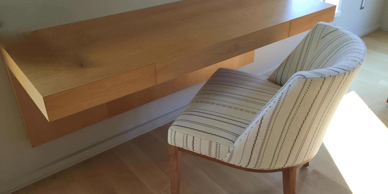 Wall mount minimalist home office desk