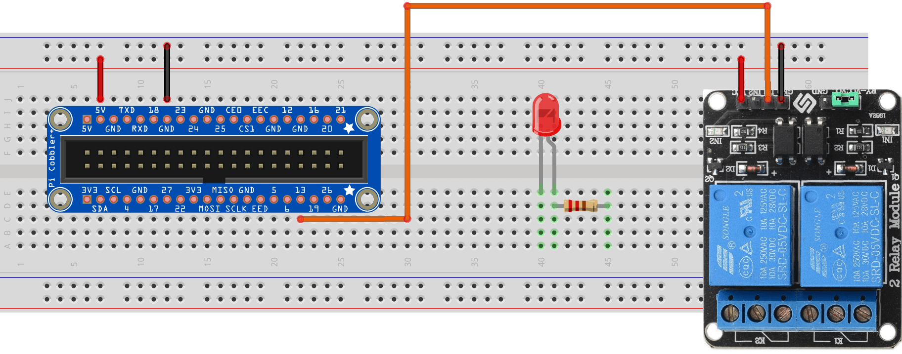 Tutorial Cayenne Mydevices Raspberry Pi Relay Wiring Diagram Step 3 Connect Gpio 13 On The Cobbler To In1 Pin Switch You Can Use Other Pins Weve Simply Chosen For This Example