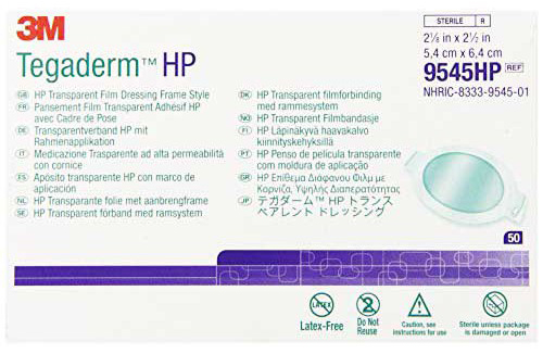 Tegaderm HP Transparent Film Dressing – Frame Style – 2 1/8″ by 2 1/2″