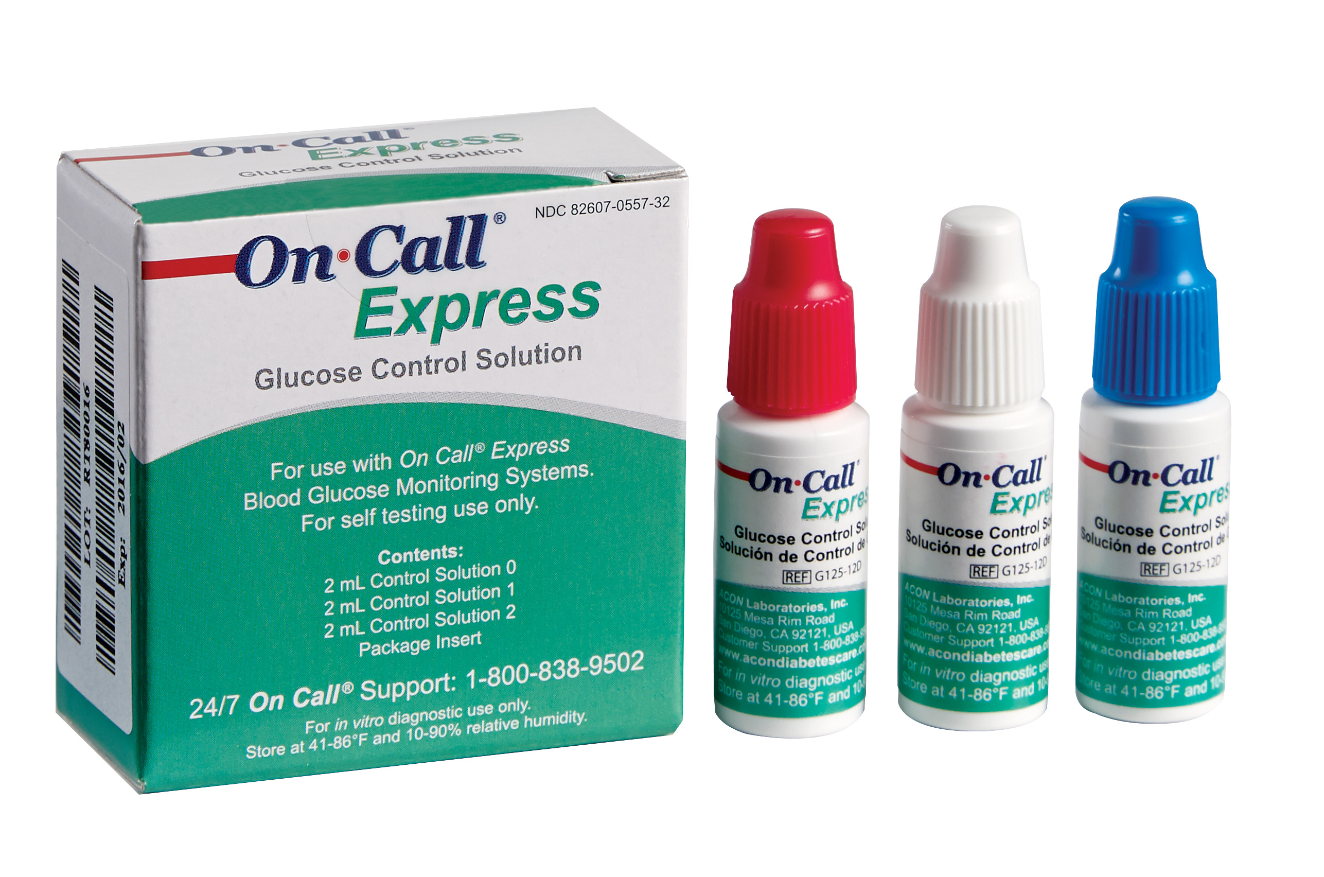 On Call® Express Glucose Control Solution Kit