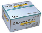 BD Ultra-Fine II Short Needle Syringe – 1cc – 31g – 90ct.