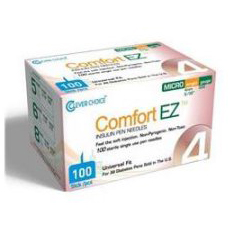 Clever Choice Comfort EZ Insulin Pen Needles – 32g – 5/32″ (4mm) 100/box -Sold by Box