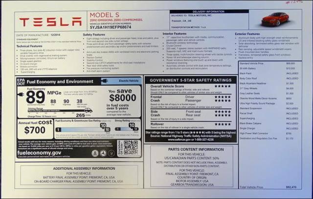 2015 Tesla Model S 85 for sale in San Diego, CA, USA | MYEV com