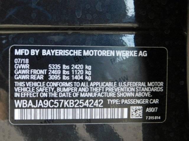 2019 BMW 5 Series WBAJA9C57KB254242