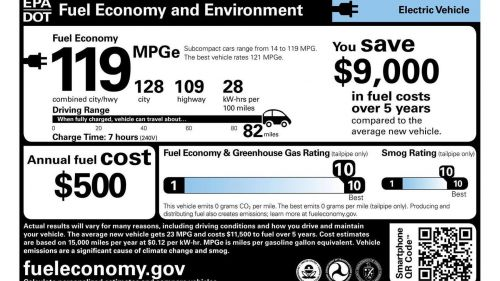 How To Read An Electric Vehicle's Window Sticker