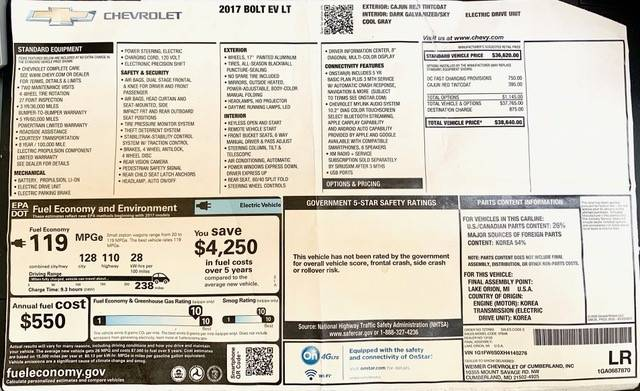 2017 Chevrolet Bolt 1G1FW6S0XH4145276