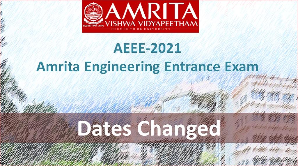 Amrita Entrance 2021