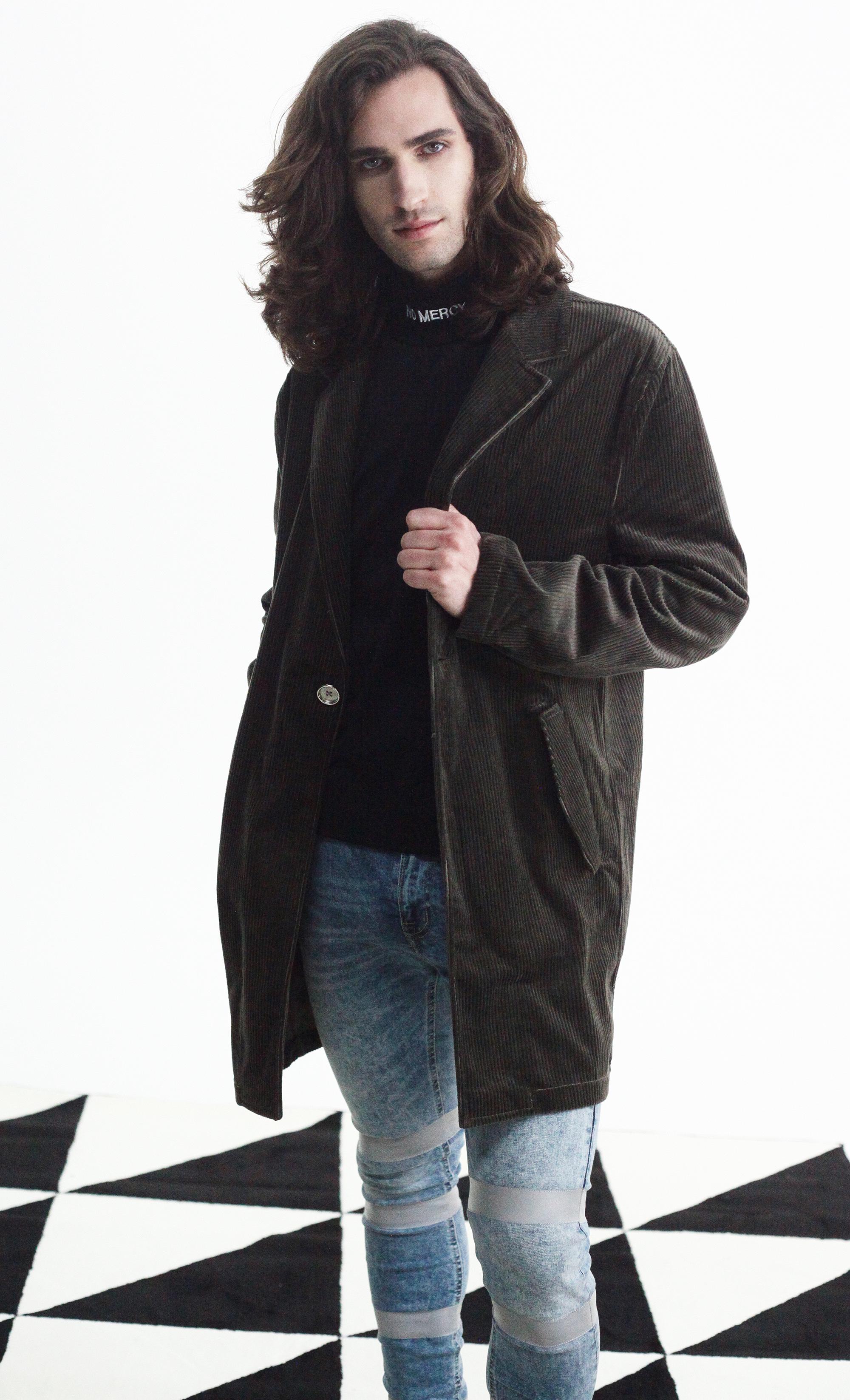 Corduroy overcoat